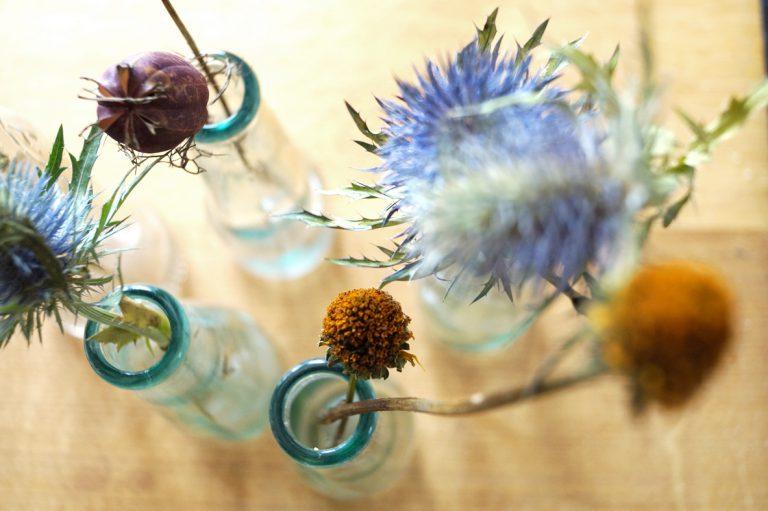 Brautstrauß im Glas