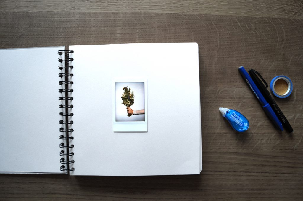 Polaroid Buch _ Brautstrauß
